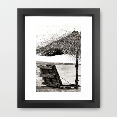black-and-white-umbrella-framed-prints