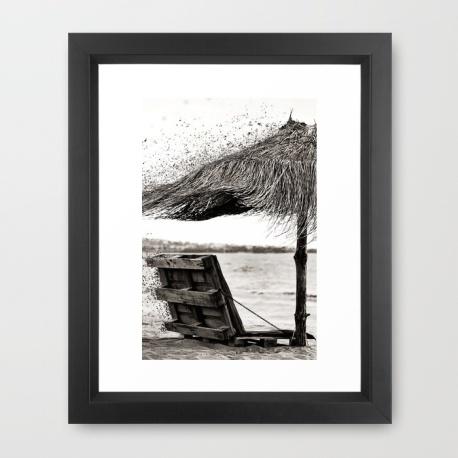 black-and-white-umbrella-framed-prints